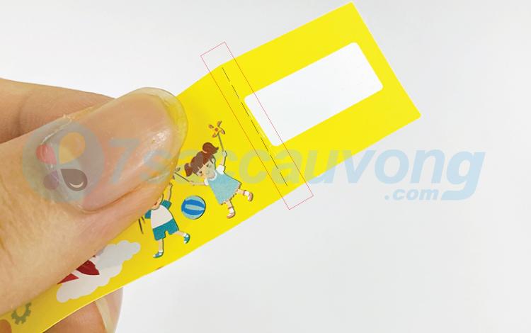 Vòng tay giấy cấn đường răng cưa
