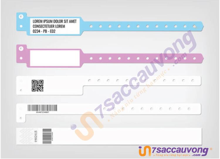 Thiết kế in vòng tay giấy bệnh viện - A2