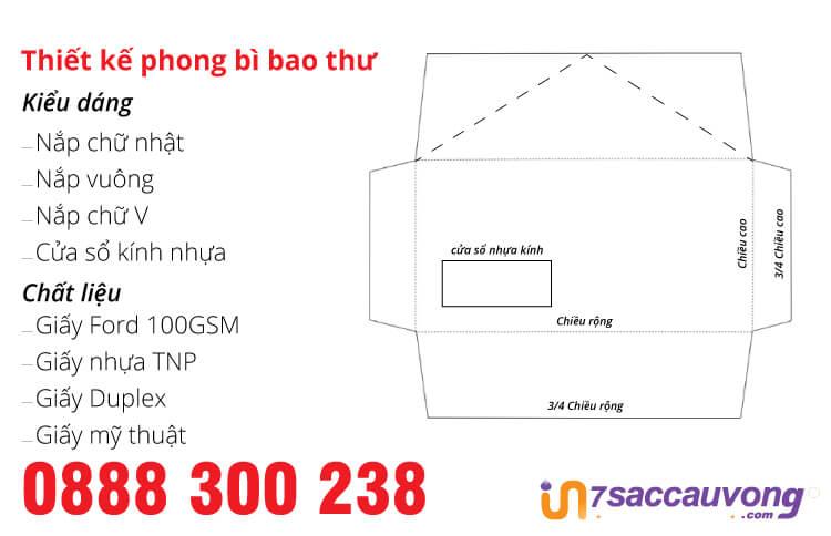 In Nhanh Bao Thư, Phong Bì Thư Cao Cấp Tại Xưởng In 7 Sắc Cầu Vồng