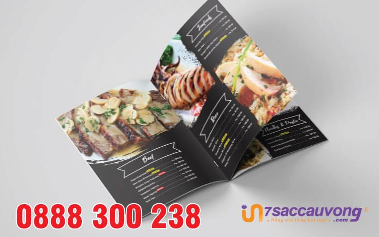 In nhanh menu nhà hàng quận 12 - 7 Sắc Cầu Vồng.