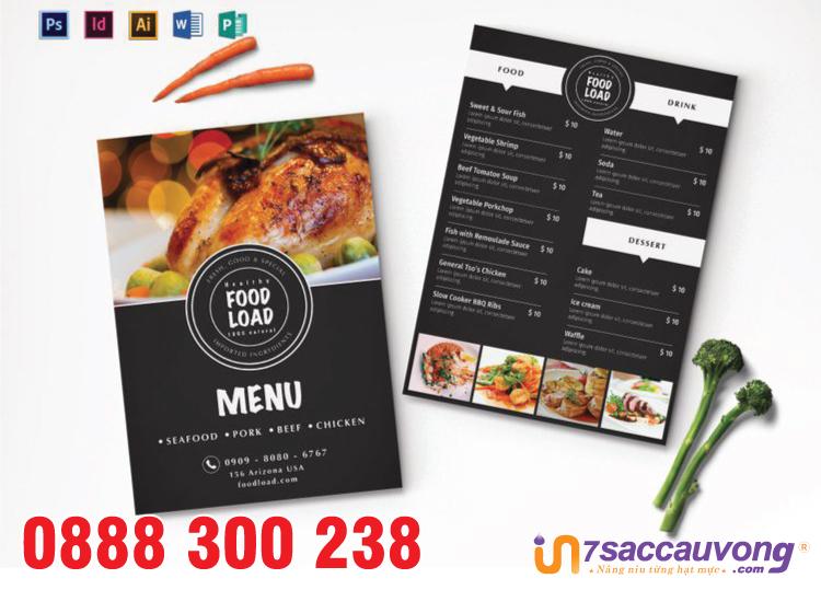 Thiết kế menu nhà hàng ấn tượng giá rẻ - 7 Sắc Cầu Vồng.