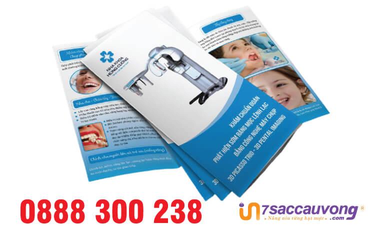 Mẫu brochure bệnh viện răng hàm mặt - 7SCV.