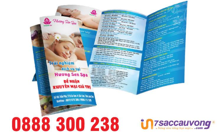 Mẫu brochure bệnh viện/ phòng khám Spa - 7SCV.