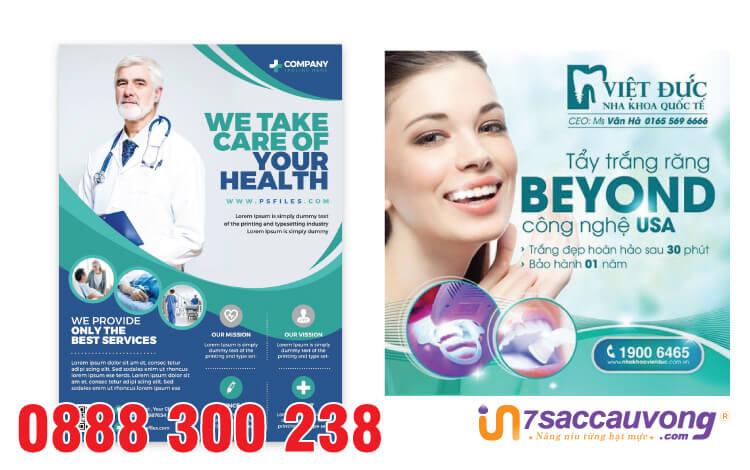 Sự chuyên nghiệp của Leaflet bệnh viện thu hút sự chú ý của khách hàng
